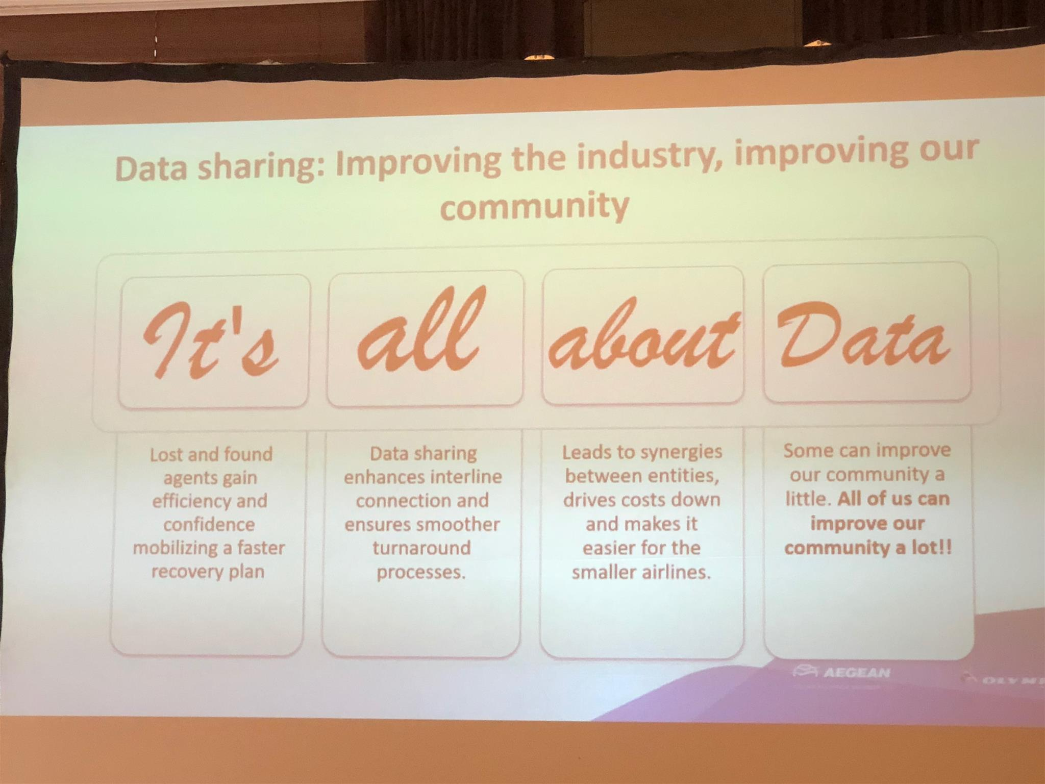 "IATA AIC-Motto ""It's all about Data""!!"