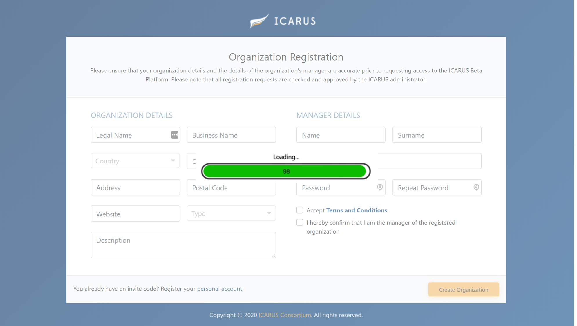 ICARUS Platform... Official Launch Loading!