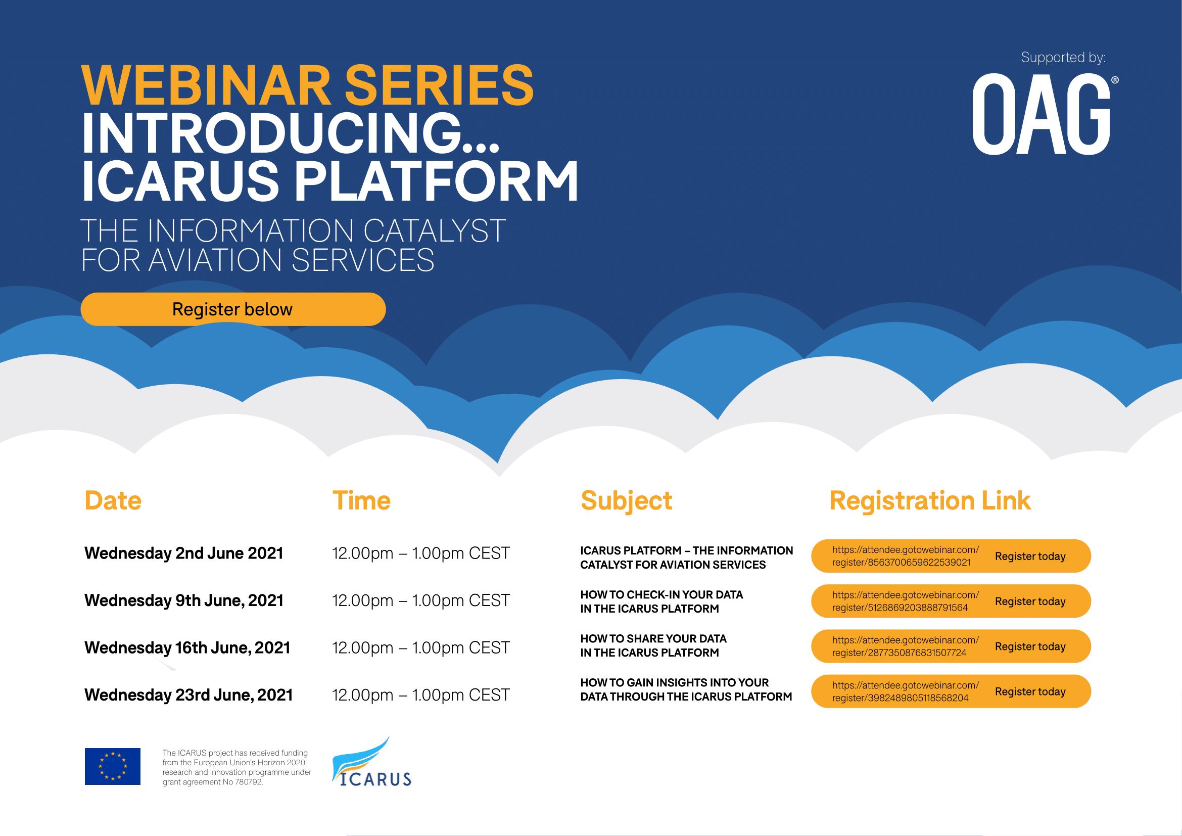 introducing...icarus platform webinar series